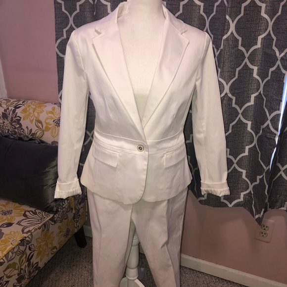 New w/tags white suit.